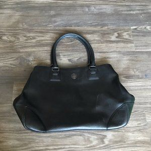 Tory Burch Black Leather Tote Bag